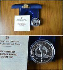 CONFEZIONE REPUBBLICA ITALIANA 500 LIRE 1987 ATLETICA ARGENTO 835 PROOF