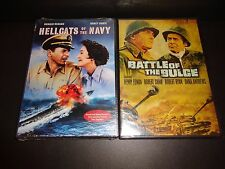 HELLCATS OF THE NAVY & BATTLE OF THE BULGE-2 DVDs-RONALD REAGAN, HENRY FONDA
