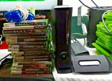 Xbox 360 System 18 Games One Controller Gaming Lot Halo COD Gears Of War GTA