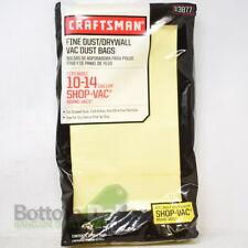 "Craftsman 3877 2-Pack 2"" x 9.5"" 10-14 gal Fine Dust/Drywall Vac Dust Bag"