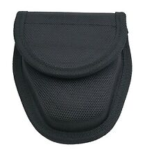 BLACK POLICE GEAR HANDCUFF POUCH HOLSTER UNIVERSAL WITH BELT LOOP BRAND NEW!!!