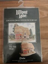Vtg Anchor Lilliput Lane Counted Cross Stitch Picture Kit - LL02 / The Toy Shop