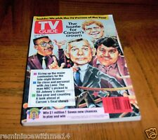 VINTAGE TV GUIDE - JULY 1991-THE BATTLE FOR JOHNNY CARSON'S CROWN-LENO-LETTERMAN