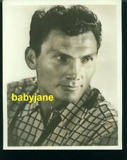 JACK PALANCE VINTAGE 8X10 PHOTO HANDSOME PORTRAIT DOUBLE WEIGHT