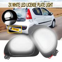 2Pcs 18LED License Number Plate Light Lamp For Citroen C1 Peugeot 107 MK1