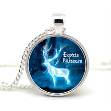 Expecto Patronum Harry Potter Cabochon Pendant Silver Chain Jewelery Necklace
