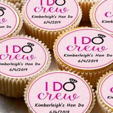 24 icing cake decorations toppers can be personalised ND2 Hen Night Party Do