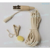 Tie Clip Lavalier Microphone for Shure Wireless Belt System mini 4Pin TA4F