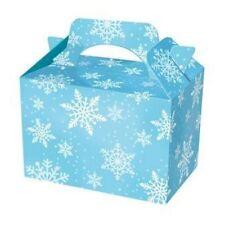 10 blu SNOWFLAKE Natale Kids CIBO Cookie partito BOX, party bag congelati partito
