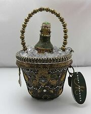 """Mary Frances """"On Ice"""" Champagne Bottle Beaded Purse-Bag & Numbered Certificate"""