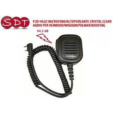 PJD-4602 MICROFONO/ALTOPARLANTE CRISTAL CLEAR AUDIO PER KENWOOD/WOUXUN/POLMAR/BA