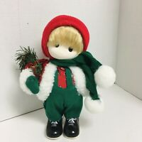 Christmas Boy Musical Doll Animated Here Comes Santa Rare VTG Terrys Village