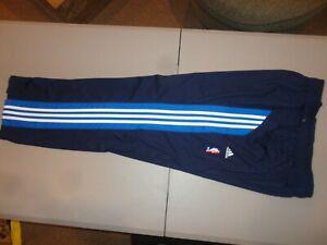 Adidas Dallas Mavericks Logo Warm Up Snap Pants NBA Basketball Adult XL Tearaway