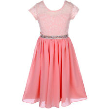 BLUSH Flower Girl Dress Birthday Pageant Wedding Party Bridesmaid Formal Gown