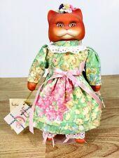 "Victoria Ashlea Originals Goebel Cat Doll 1996 Orange White ""PATCHES"""