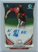 2014 Bowman Chrome Tyler Mahle On-Card Rookie Auto Cincinnati Reds #BCAP-TMA
