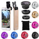 3 in1 Wide Angle Macro Camera Lens Kit  Clip-on Universal Cell Phone Fish Eye