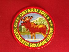 Ontario MNR Successful Big Game Hunter Moose Patch Crest Badge 2008