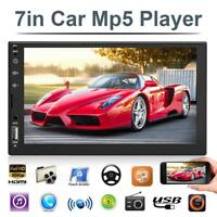 7in 2Din Touch Screen Car Stereo MP5 FM Radio Bluetooth Head Unit With Camera