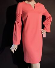 Phoebe Couture Bell Sleeve Coral Casual Shift Mini Dress Size 6 NWT