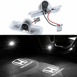 2pc Car LED Door Logo Projector Puddle Light HD For Honda Accord Crosstour Pilot