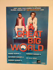 A GREAT BIG WORLD 2014 Australian New Zealand Tour Poster A2 Say Something *NEW*
