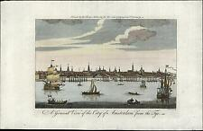 Amsterdam Holland Netherlands Tye ships c.1770 antique old Dutch Nederland view