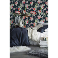 Summer flowers Removable wallpaper watercolor colorful Home Decor