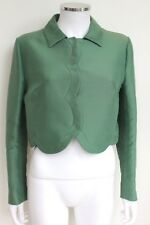 Valentino Green Scalloped Cropped Jacket 46 uk 12-14