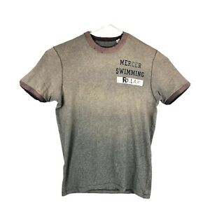 Ruehl No 925 Faded Grey Distressed Mercer Swimming Relay T Shirt Size L