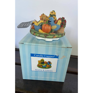 Brand New Candle Capper Acorns & Leaves Candle Topper