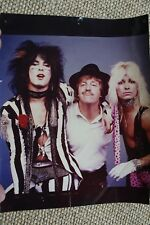 Motley Crue Nikki Sixx Vince Neil Original Theatre Of Pain Photograph 1985 1986