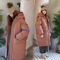 Women's Long Loose Down Jacket Winter Warm Fur Collar Coats Outwear Fashion Coat