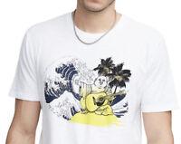 True Religion Men's Palm Buddha Crew Neck Tee T-Shirt in White