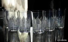 ANCIENNES GRAND 6 verres gobelets cristal BACCARAT NANCY signée crystal N°2