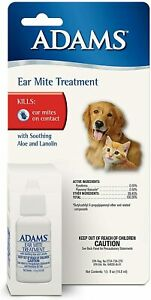 Adams Ear Mite Treatment Free USA Shipping - Single or 3 Pack