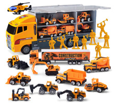 11 in 1 Die-cast Construction Truck Vehicle Car Toy Set Play Vehicles Over 3 Yea