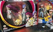 BANDAI S.H.Figuarts Pokemon Ash Satoshi Pikachu & Team Rocket SET Action Figure