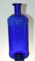 ANTIQUE  32 OUNCE STAFFORD'S COBALT BLUE MASTER INK BOTTLE POUR SPOUT QUART