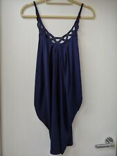 Blue Vest Dress With Low Back And Lace Embellishment From Miss Selfridge Size 8