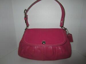 Coach pink  Leather Soho Pleated Shoulder Bag Satchel  Handbag   F13729