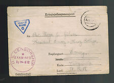 1943 Tost Germany ILAG 8H Internment Camp Letter Cover to USA Edward Chambers