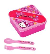 Hello Kitty Square Lunch Container: Butterfly