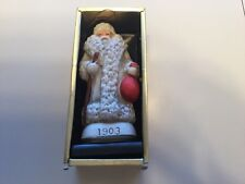 Santa Ornament with bag and walking stick - decoration figurine Christmas