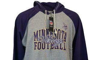 Minnesota Vikings Women's NFL Team Apparel Full Zip Hoodie Plus Size *read*