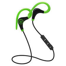 Universal 4.1 Bluetooth Wireless Stereo Earphone Earbuds Sport Headphone Headset Green