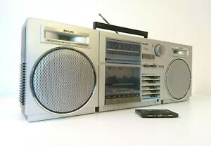 Philips D 8438 Vintage Boombox Ghettoblaster Stereo Radio - Works Perfectly!
