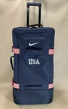 00c75700399a Nike Fiftyone 49 Team USA Blue Luggage Large Roller Bag Wheeled Suitcase  Rare