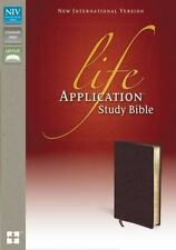 NIV, Life Application Study Bible, Bonded Leather, Burgundy by Zondervan