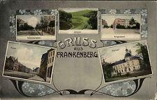 Frankenberg Sachsen ~1910 Bürgerschule Postamt Lützeltal Markt Humboldstrasse